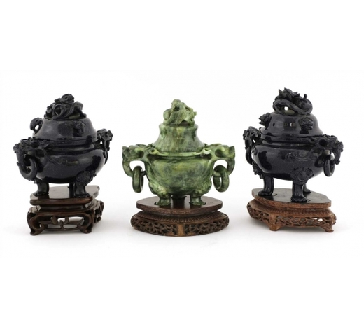 SwordersThree Chinese incense burners,