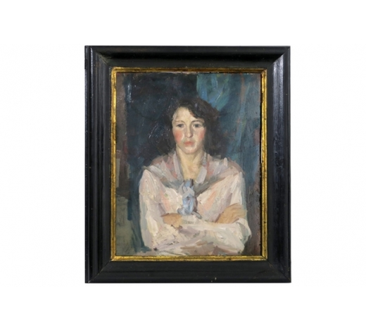 DVCearly 20th Cent. Russian oil on board - with the indistinctly signature of K. A. Korovin  -  attributed to  -  prov : private German collection