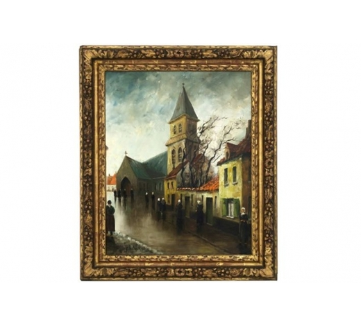 DVC20th Cent. Belgian oil on canvas - signed