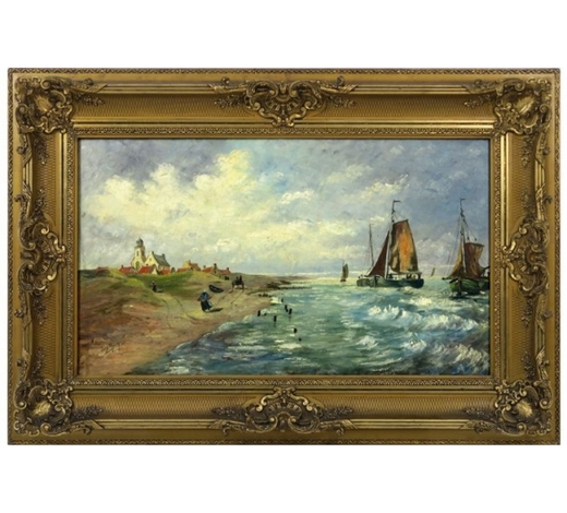 DVC19th Cent. Belgian oil on canvas - signed Louis Marion - attributed to