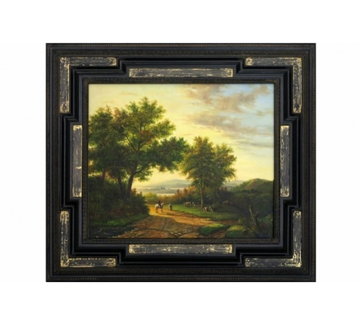 DVC20th Cent. oil on canvas with an 19th Cent. style theme