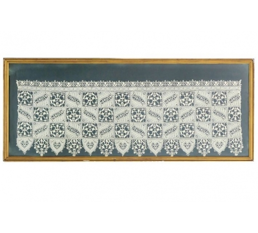 DVCframed 'antique' piece of Venetian lace