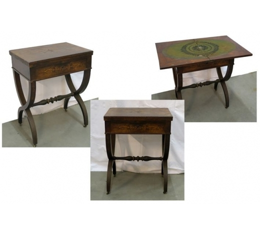 DVC19th Cent. French Charles X-style cardtable in marquetry