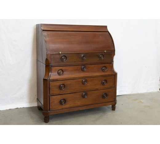 DVCearly 19th Cent. neoclassical bureau in mahogany