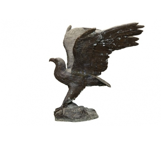DVCquite big 20th cent. eagle sculpture in bronze