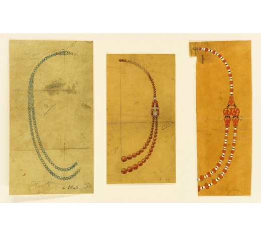RoseberysA collection of original artwork of jewellery designs on wove paper