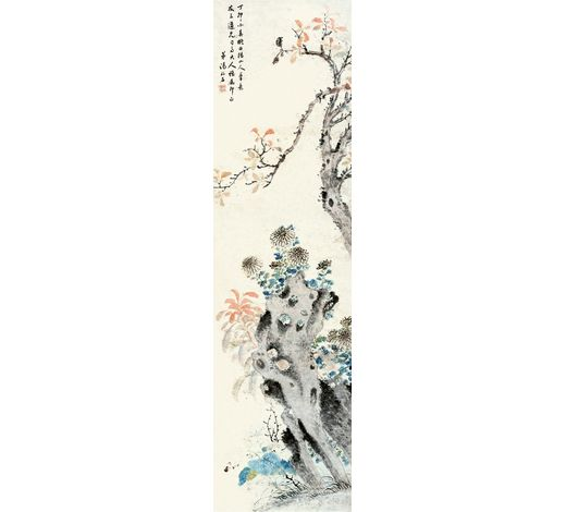上海嘉泰汤禄名(1804-1874年) 秋菊红茶图