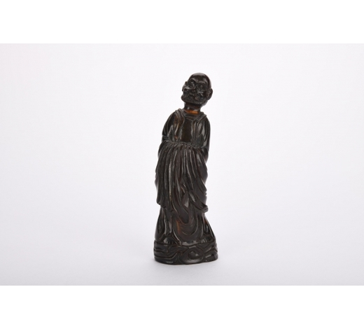 Margarita Auction CoQing dynasty wood carving figure of arhat
