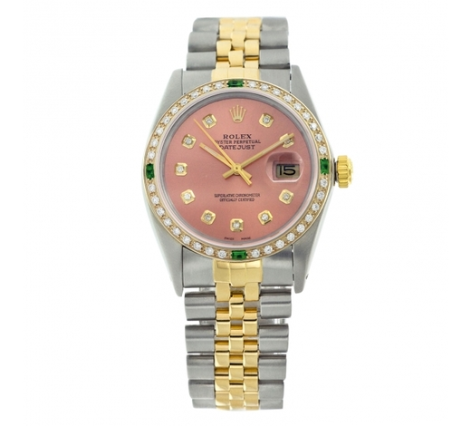 World Jewelry AuctionsRolex Pre-owned 36mm Mens Salmon Two Tone - REF-610M3R