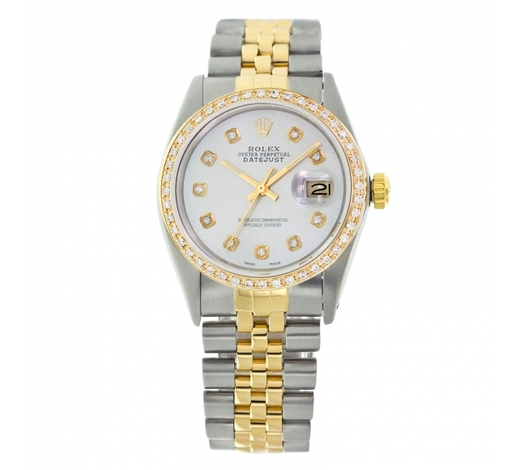 World Jewelry AuctionsRolex Pre-owned 36mm Mens Powder Blue Two Tone - REF-610H4N