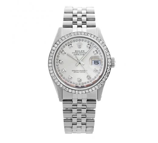 World Jewelry AuctionsRolex Pre-owned 36mm Mens String Silver Dial Stainless Steel - REF-610R2M