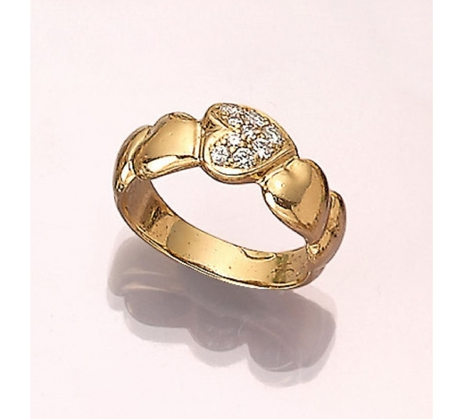 Henry's18 kt gold LAUDIER ring with brilliants