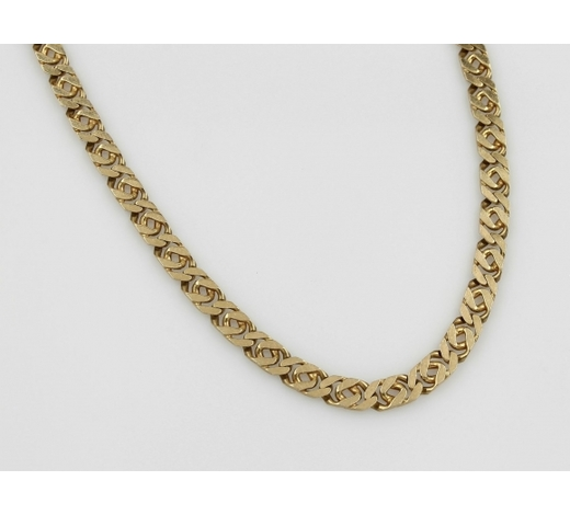 Henry's14 kt gold flat curb necklace