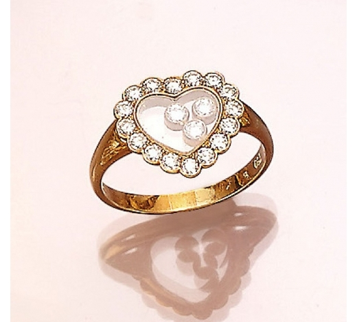 Henry's18 kt gold CHOPARD ring with brilliants