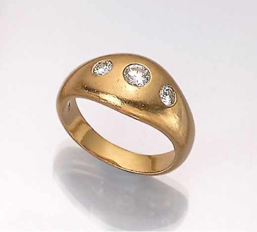Henry's18 kt gold bandring with brilliants