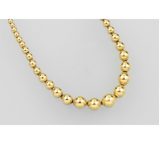 Henry's18 kt gold sphere-necklace