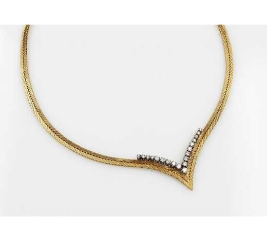 Henry's18 kt gold necklace with brilliants