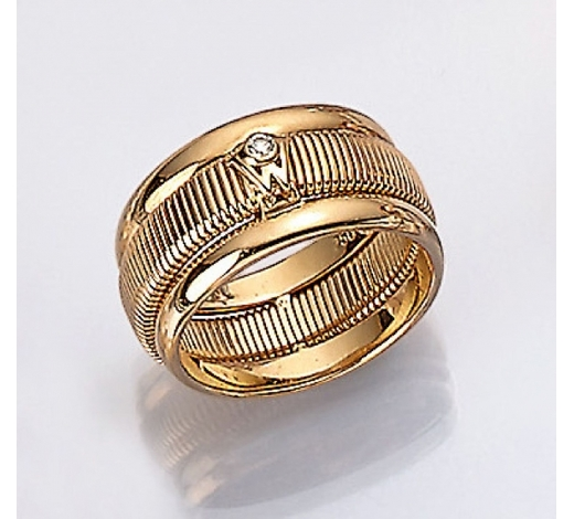 Henry'sWELLENDORFF 18 kt gold ring with diamond