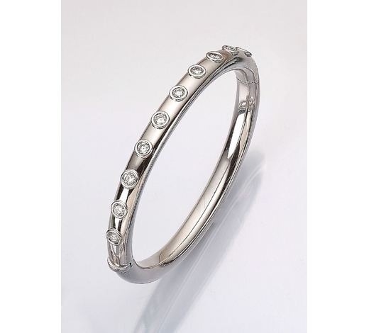 Henry's18 kt gold bangle with brilliants