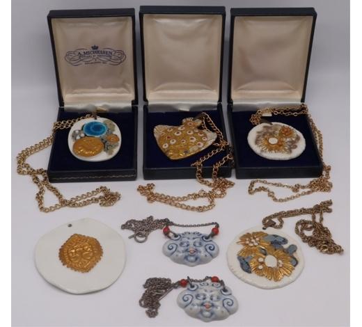 Clarke Auction GalleryJEWELRY. Collection of (7) Royal Copenhagen