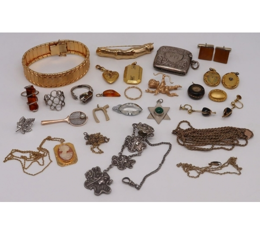 Clarke Auction GalleryJEWELRY. Assorted Vintage and Antique Jewelry.