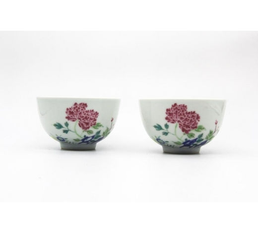 Galaxy Auction IncPair Yongzheng Marked Famille Rose Bowls