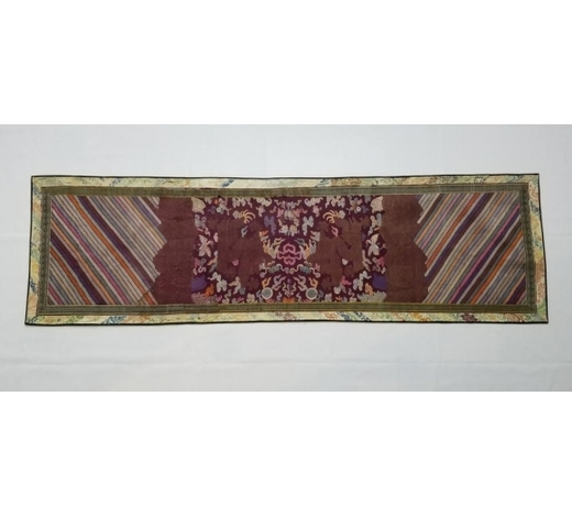 Galaxy Auction IncAntique Chinese Silk Hand Woven Dragons Brocade Panel