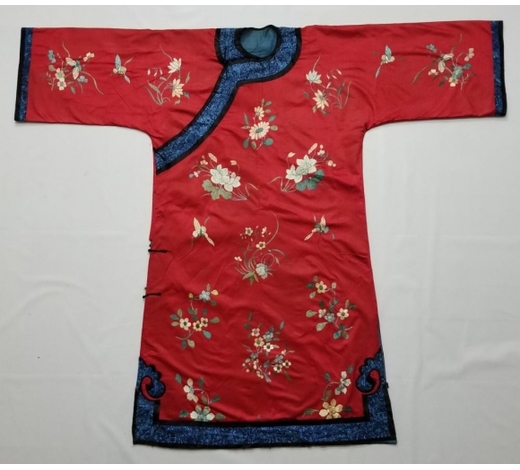 Galaxy Auction IncAntique Chinese Silk Hand Embroidered Silk Robe