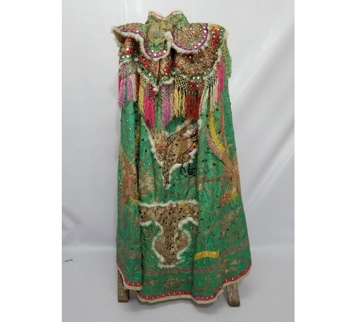 Galaxy Auction IncAntique Chinese Unusual Silk Robe with Silver Threads
