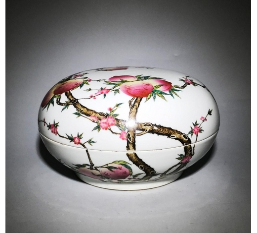 Galaxy Auction IncMarked Qianlong Famille Rose 'Nine Peach' Box