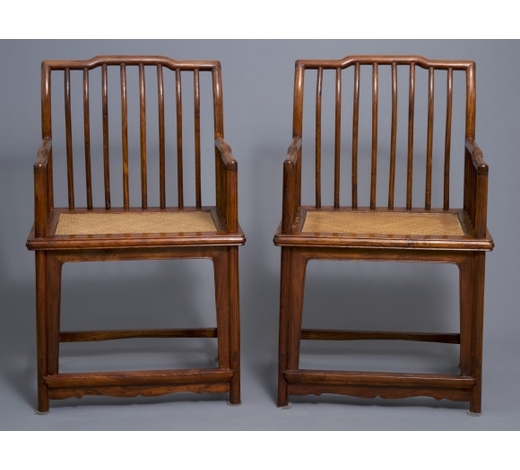 Rob Michiels AuctionsA pair of Chinese huanghuali wood chairs, Republic, 20th C.