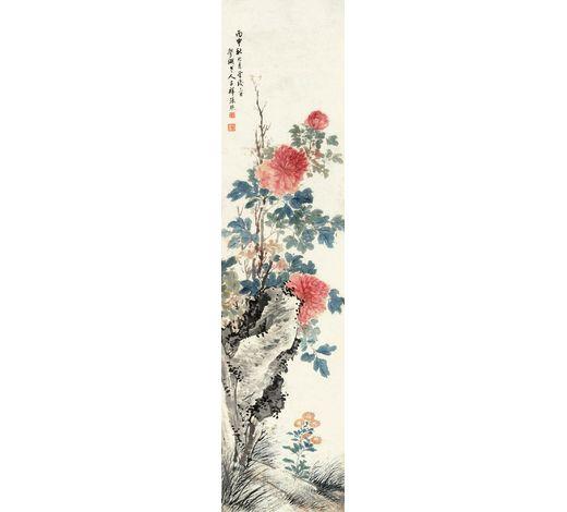 上海嘉泰张熊(1803-1886年) 牡丹图