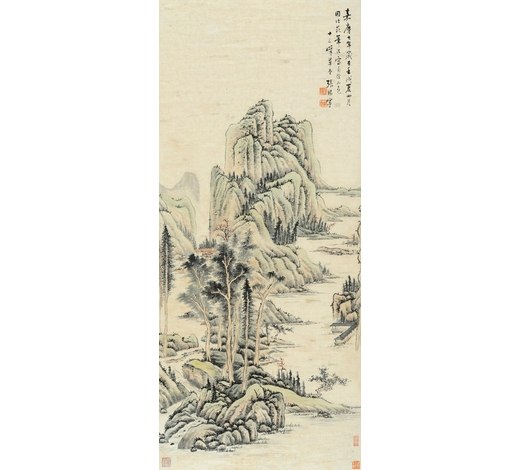 上海嘉泰张赐宁(1743-1818年) 拟古山水