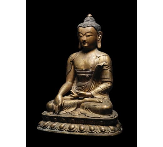 Bonhams EnglandA magnificent and large gilt-bronze figure of Buddha Shakyamuni