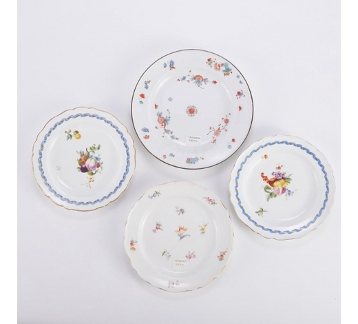 Revere AuctionsGroup of 4 Early Meissen Plates