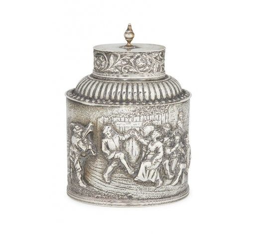 RoseberysA Dutch silver tea caddy