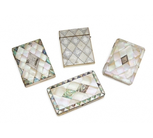RoseberysTwo Continental mother of pearl veneered cartes-de-visites cases