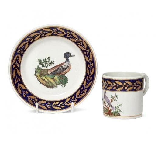 RoseberysAn English cabinet cup and saucer
