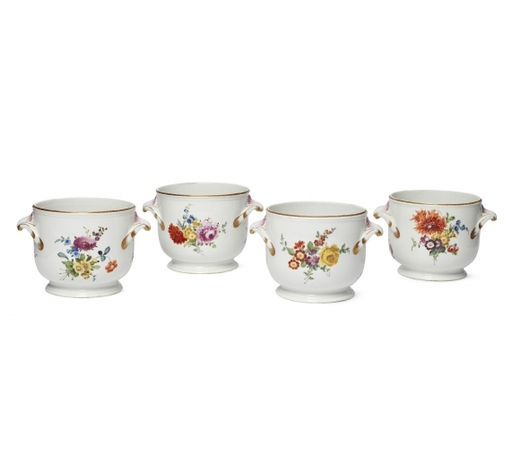 RoseberysA set of four Meissen wine coolers