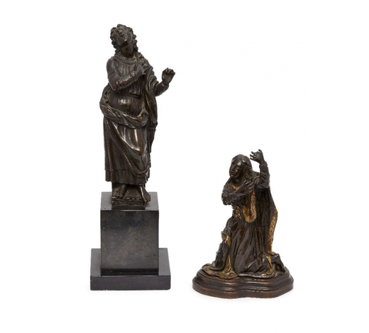 RoseberysTwo Continental bronze models of Saints