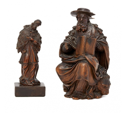 RoseberysA carved wood model of St Jerome