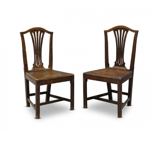 RoseberysA pair of George III mahogany dining chairs