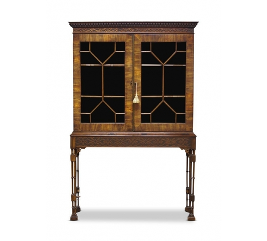 RoseberysA Regency mahogany bookcase on later stand
