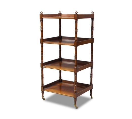 RoseberysA George IV mahogany four-tier whatnot