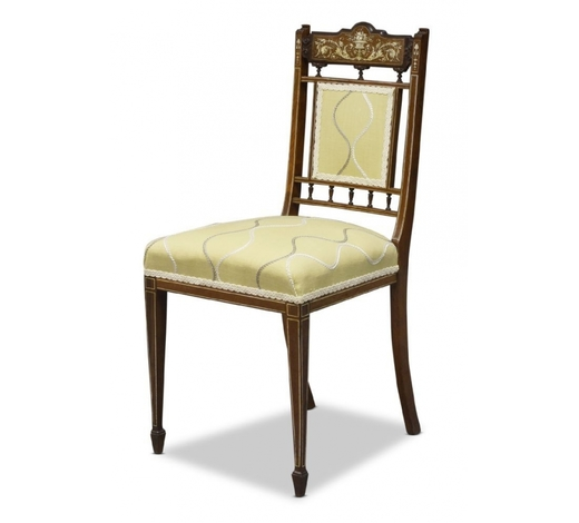 RoseberysAn Edwardian rosewood and ivory inlaid side chair