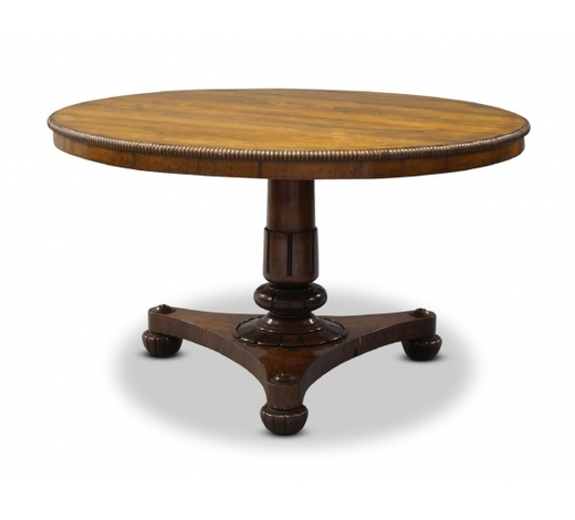 RoseberysA William IV rosewood tilt top breakfast table in the manner of Gillows