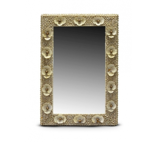 RoseberysA rectangular shell encrusted mirror by Anthony Redmile
