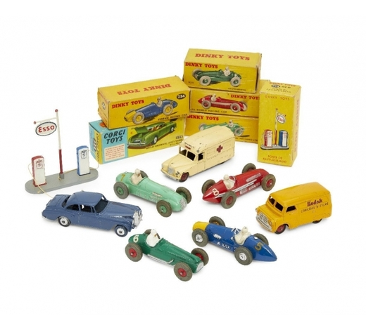 RoseberysA collection of four Dinky Toys racing cars