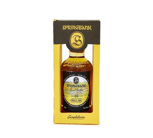 RoseberysA bottle of Springbank cask strength malt whisky