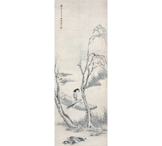 北京盈昌任伯年(1840-1895) 泛舟图